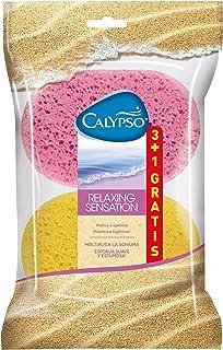 Calypso Relaxing sensation - Esponja suave que multiplica la espuma, 4 esponjas