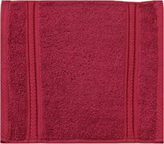 Divine Cotton Solid Pattern,Red - Face Towel