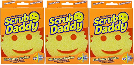 Scrub Daddy Shark Tank Sponge Smiley Face Scratch-free Scrubber - Pack of 3