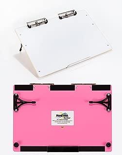 Visual Edge Slant Board - (Pink) Sloped Work Surface for Optimal Learning - Portable Desktop Magnetic Dry Erase White Board for Kids