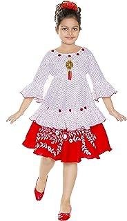 ANG Fashion Cute Comfy Girls Top Skirt - Frocks & Dresses