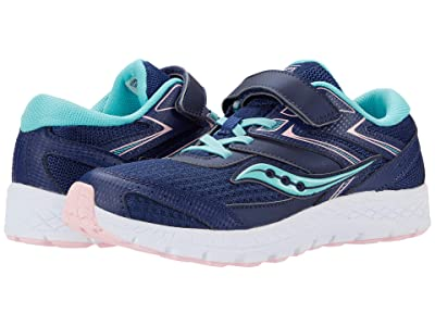 Saucony Kids S-Cohesion 13 A/C (Little Kid/Big Kid) (Navy/Turquoise) Girls Shoes