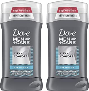 Dove Men+Care Deodorant for Men with ¼ Moisturizer Clean Comfort 48 Hour Odor Protection 3 oz, 2 count