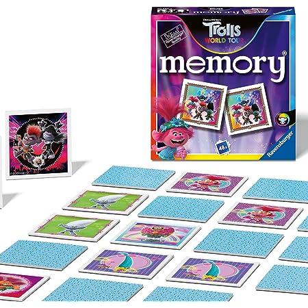 Ravensburger Mini Memory® | Trolls 2 World Tour | 48 Cartas de la Cancha