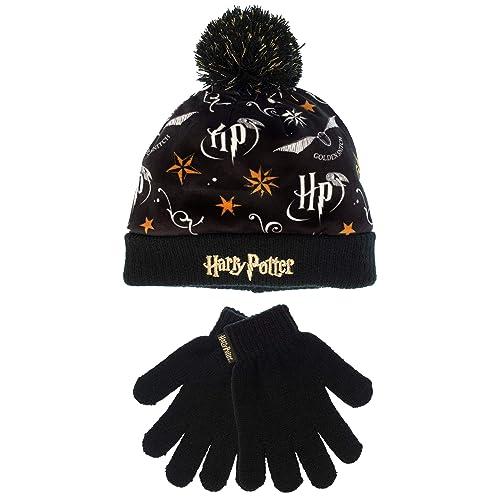 6df0e22f9adc7 Harry Potter Girls Hogwarts Hat   Gloves Set One Size