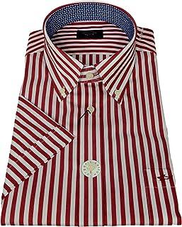 Paul Shark Yachting Collection - Camisa de manga corta para hombre a rayas rojas