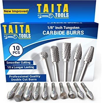 Tige Double Cut Carbide Rotary Burr Bur Die Meuleuse Carving Bits vente 8PCS 6 mm