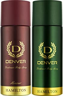 Denver Deo Combo, Hamilton and Honour, 165ml (Pack of 2)