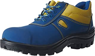 Aktion Safety Synthetic Leather Shoes SA-201 - Size 9, Blue
