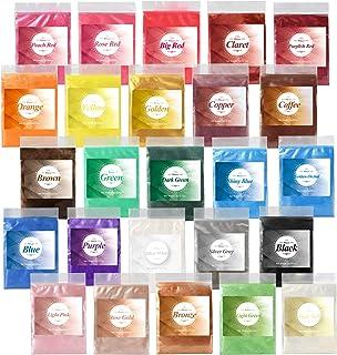 24 Color Mica Powder- Epoxy Resin Dye -Bath Bomb Dye Powder - Soap Making Colorant - Lip Gloss- Powdered Pigments Set for ...