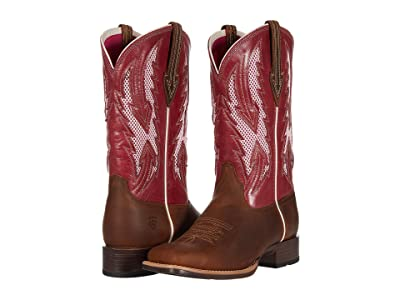 Ariat Blackjack VentTEK (Wheat/Fuchsia) Cowboy Boots