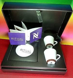 Nespresso Set 2 Ritual Espresso Porcelain Cups With Saucers,Andree Putman Design