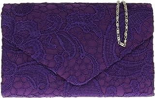Girly Handbags Satin-Spitze-Clutch-Bag