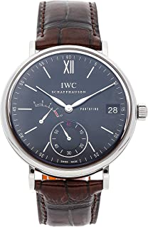 IWC Portofino Mechanical (Hand-Winding) Black Dial Mens Watch IW5101-02 (Certified Pre-Owned)