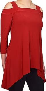 Womens Cold Shoulder Tunic Shirt