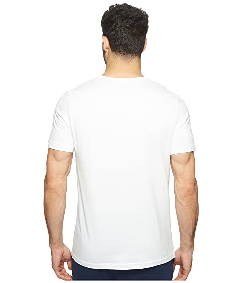 Outlet Best Prices Shop For Tommy Hilfiger Short Sleeve Core Flag V-Neck Tee White Buy Cheap Limited Edition Buy Cheap Popular qeQ75H