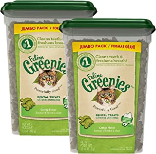 FELINE GREENIES Dental Cat Treats 11 oz 2 Pack