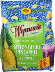 Wymans Of Maine, Frozen Fruit Melon Berry Pineapple Cucumber, 48 Ounce