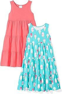 0dd6549ca Amazon Brand - Spotted Zebra Girls' Toddler & Kids 2-Pack Knit Sleeveless  Tiered