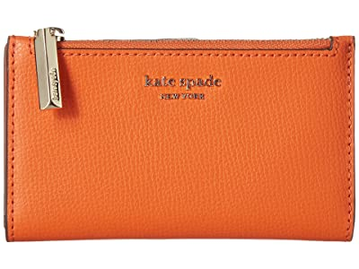 Kate Spade New York Small Slim Bifold Wallet (Juicy Orange) Wallet Handbags