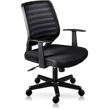 I SEATING Silla Oficina ejecutiva semiejecutiva Escritorio para computadora Silla Gamer sillas para Escritorio Tivoli Negro Home Office