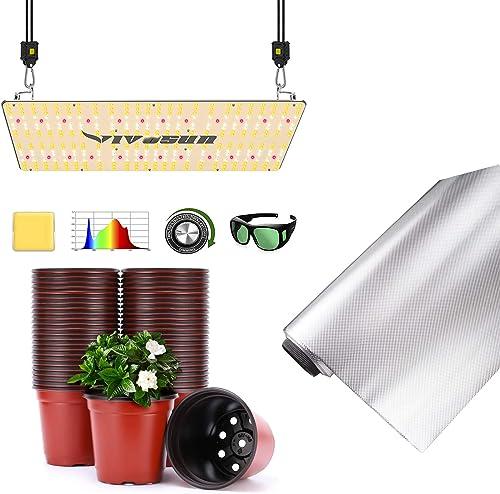 discount VIVOSUN VS2000 LED Grow discount Light with 2021 Film Foil Roll, Planter Nursery Pots sale