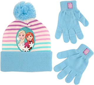 Girl Winter Hat Set, Frozen Elsa and Anna Kids Beanie and...