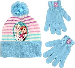 Girls' Toddler Frozen Elsa Beanie Hat and Mittens
