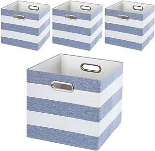 HDHUIXS Boîtes de rangement de tissus, paniers de rangement tiroirs conteneurs/bacs à linge/boîte à jouets, paniers pliabl...