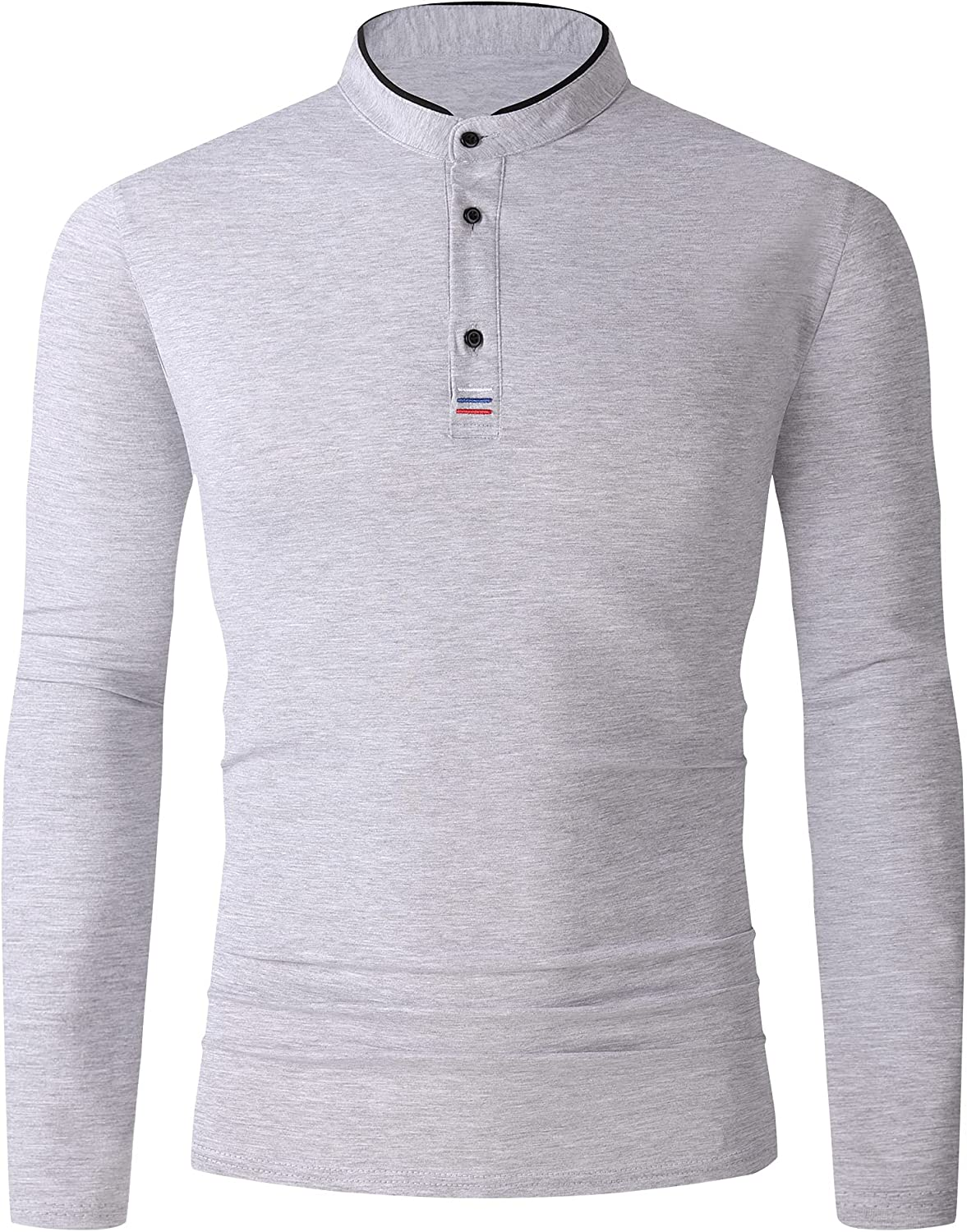 Esabel.C Mens Great interest Long Sleeve Polo Fashion Fit Shirts Casual Regular Cheap super special price