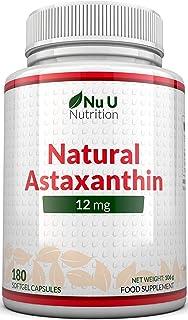 Astaxantina 12 mg - 180 Capsule Softgels (Scorta Per 6 Mesi) - La Più Alta Dose Di Astaxantina - Integratori alimentari Nu...
