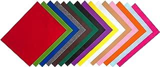 "Edukit Acrylic Felt Pack of 15 Assorted Colours - (8.3"" X 11.7"") - (210 X 297mm) - (A4) - Size - Sheets"