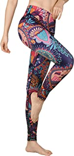 DOVPOD Printed Yoga Pants High Waist Fitness Plus Size Workout Leggings Tommy Control Capris for Women