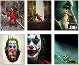 Joker Movie Poster Prints - Set of 6 (8 inches x 10 inches) Pictures - Joaquin Phoenix