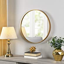 FirsTime & Co.® Gold Beckham Round Mirror, American Crafted, Gold, 22 x 1.75 x 22 , (70155)