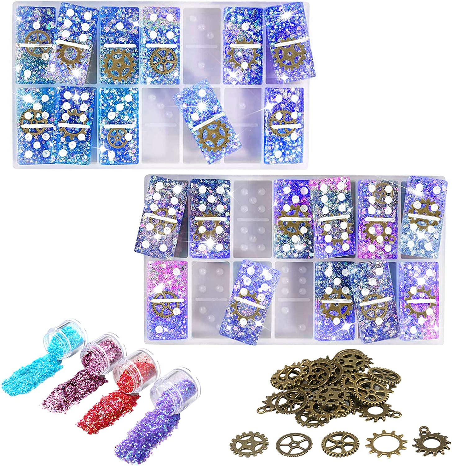 Resin safety Recommendation Molds Domino Game for Casting Silicone
