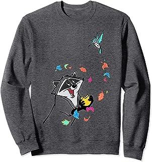 Disney Pocahontas Meeko Flit Colorful Leafs Fall Sweatshirt