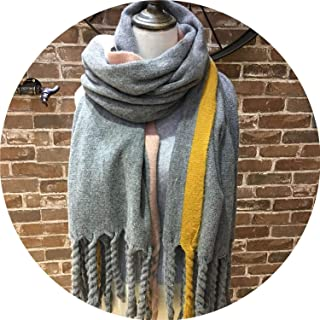 Thick Braids Knitted Scarf Margin Pashmina Poncho Wrap Twist Cable Chunky Tassel Shawl Scarf Blanket