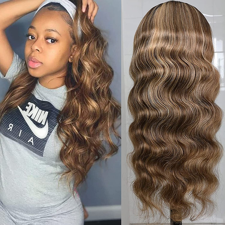 24 Inch Curly 返品不可 Half Wigs Human Blonde H Highlight Hair バーゲンセール Wave Loose
