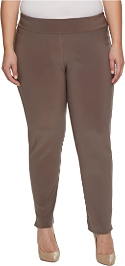 Krazy Larry - Plus Size Microfiber Long Skinny Dress Pants