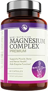 Nobi Nutrition High Absorption Magnesium Complex - Premium Magnesium Supplement for Sleep, Stress & Anxiety Relief, Leg Cramps, Headaches, Energy, Muscle Relaxation & Recovery (60)