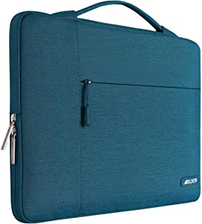 MOSISO Laptop Briefcase Handbag Compatible with 2018 New MacBook Air 13 inch with Retina Display A1932, 13 inch New MacBook Pro A1989 A1706 A1708, Polyester Multifunctional Sleeve Case Bag, Deep Teal