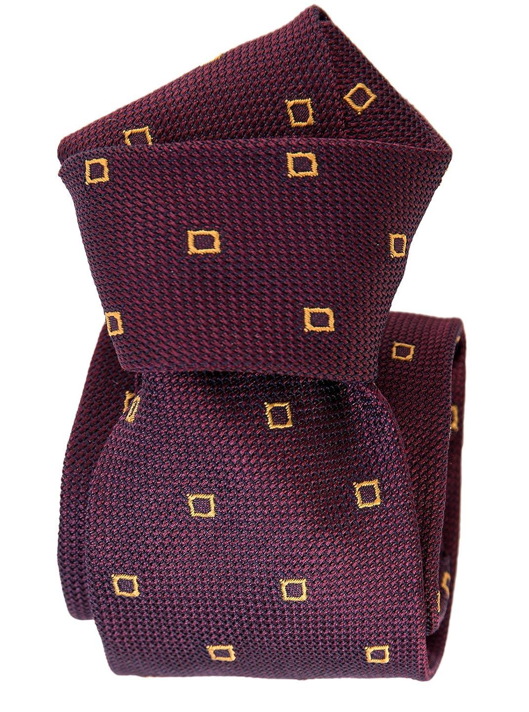 Elizabetta Men's Italian Silk Grenadine Tie, Extra Long, Handmade in Italy