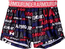 Under Armour Kids - Wordmark Block Play Up Shorts (Little Kids)