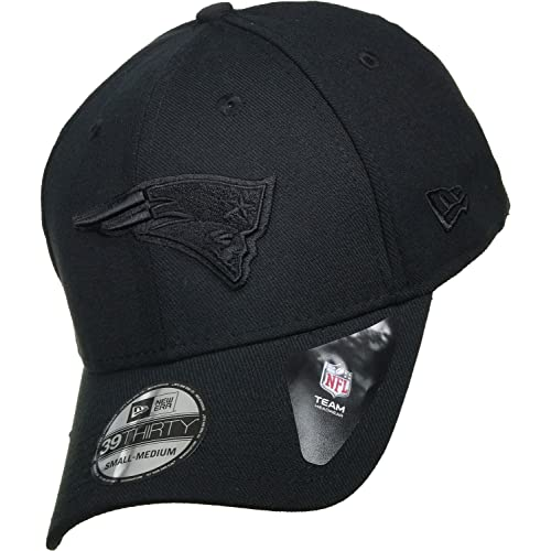 191076b5d548 New Era BOB Team Poly 39Thirty Cap New England Patriots Schwarz Schwarz