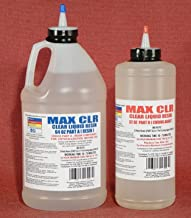 MAX CLEAR GRADE Epoxy Resin System - 3/4 Gallon Kit - Food Safe, FDA Compliant Coating, Crystal Clear, Stain Resistant, Countertop and Tabletop Coatings, Wood Coatings, Fiberglassing Resin