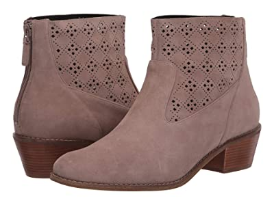 Cole Haan Jayne Bootie (Stone Taupe Suede/Perf Suede/Dark Natural Semi Shine Stack) Women