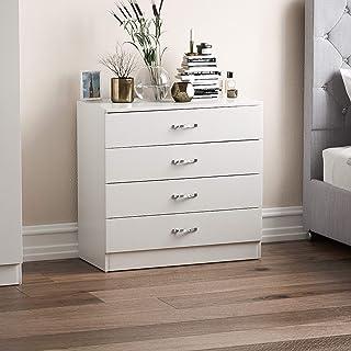 comprar comparacion Home Discount Cajonera 4 cajones con Tiradores y rieles de Metal, con Soporte Exclusivo anticombado para cajón, Muebles de...