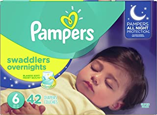 Diapers Size 6, 42 Count - Pampers Swaddlers  Overnights Disposable Baby Diapers, SUPER