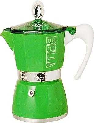 European Gift & Houseware 10-4809 Bella - Cafetera de espresso para 9 tazas, color verde
